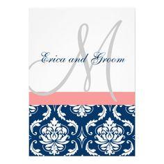 "printable wedding invitation template ""grace"" coral reef & marine, Wedding invitations"