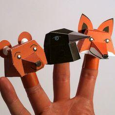 Fabriquer des marionnettes de doigt en papier