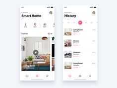 Smart home app daily ui challenge 47 365 Ui Design Mobile, Web Ui Design, House App, Daily Ui, Ui Design Inspiration, Interface Design, User Interface, Apps, Smart Home