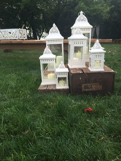 #GorgeousLanterns@FrutigFarmsForCeremonyorReception Wedding Props, Lanterns, Gazebo, Presents, Outdoor Structures, Gifts, Kiosk, Wedding Accessories, Deck Gazebo
