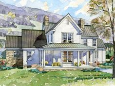 Modern Farmhouse Plans reminiscent of sb, like the placement house to garage | build