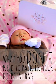 Hilarious but good advice. A list of things you do and DO NOT need when you go into have baby.