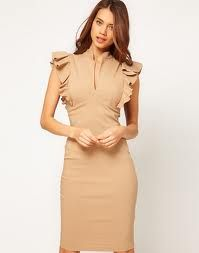 Enlarge Hybrid Dress with Deep V Neck and Frill Sleeves a8676ea24
