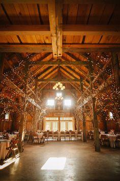 Barn Wedding + Twinkle Lights! Photography: Trenholm Photo