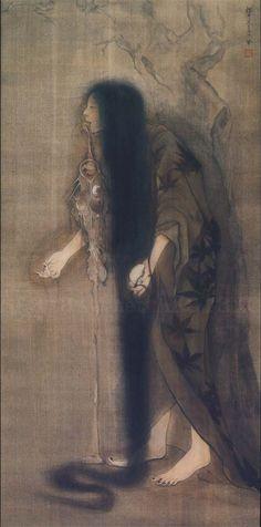 """akatako:  """"Insane Woman Under the Cherry Tree""""by Fuyuko Matsui"""