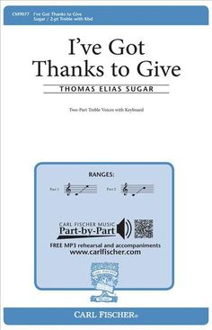 I've Got Thanks To Give (Octavo)