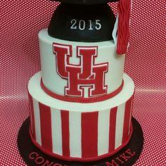 University Of Houston Graduation Cake