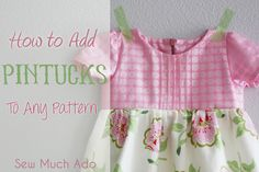 How to add pintucks to a pattern. Tutorial by Sew Much Ado, part of icandy handmade's Basic Bodice Design Series