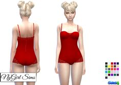 Sims 4 CC's - The Best: Lace Balconette Bodysuit by NyGirl