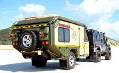 Land Rover Defender and Overland Trailer