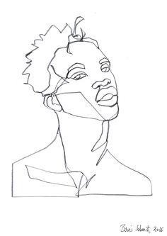 """Gaze 397″, continuous line drawing by Boris Schmitz"