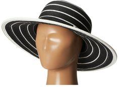 San Diego Hat Company UBM4438 Striped Belted Floppy (Black White Stripe)  Black White Stripes f960cc8018c6