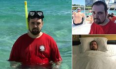 Man posts 'miserable' holiday snaps after going on trip without wife