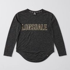 She will love this linen blend long sleeve top, featuring a gold foil brand print on front and centre back neck. Kids Girls, Chloe, Long Sleeve Tops, Target, Graphic Sweatshirt, London, Sweatshirts, Birthday, Sleeves
