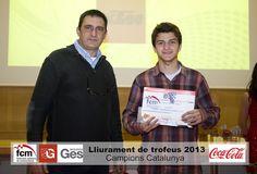 Enric Vendrell, campeón de la Liga Catalana Cadete 85 cc.