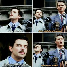 """Jack Thompson and Howard Stark, """"A hero for all Americans"""". Marvel Dc Comics, Marvel Heroes, Marvel Avengers, Peggy Carter, Dc Movies, Marvel Movies, Jack Thompson, Tony Stark, Marvel Cinematic Universe"""