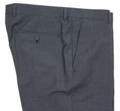 Z-Zegna Gray Plaid Flat Front Trim Fit Dress Pants 34 NEW #ErmenegildoZegna #DressFlatFront