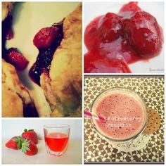 Monday MoodBoard : Strawberries!!!! #strawberry #recipe #smoothie #liqueur #drink #sweat #dessert