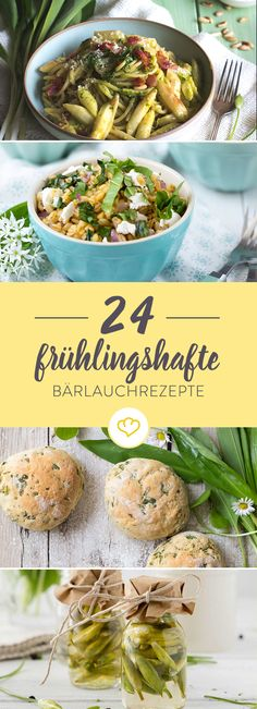 Wir haben für dich 24 Bärlauchideen gesammelt, damit du das Frühlingskraut in vollen Zügen genießen kannst - als Quiche, Brot oder Pasta.