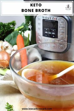 Fast and easy, this homemade Keto Bone Broth made in an Instant Pot is filled with an unbelievable huge amount of health benefits one soup can offer. This needs to be in your kitchen at all time, prepared for any occasion. Ketogenic Recipes, Low Carb Recipes, Easy Recipes, Ketogenic Diet, Soup Recipes, Instapot Bone Broth, Homemade Bone Broth, Instant Pot, Winter