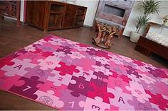 F.H.Kabis Detský koberec Puzzle - fialový 150x200 cm