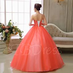Sweetheart Ball Gown Appliques Beading Quinceanera Dress