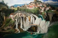 Tivador Kosztka Csontváry (Hungarian [Post-Impressionism, Expressionism] Waterfall at Jajce, Budapest, Russian Painting, Post Impressionism, Art Database, Cubism, Pilgrimage, Painting Inspiration, Abstract Art, Art Prints