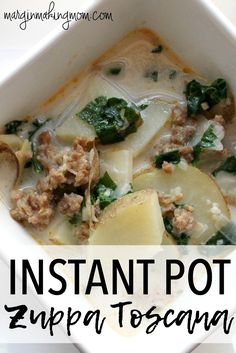 This delicious Zuppa Toscana soup is made in the Instant Pot pressure cooker, making it a quick and easy recipe that tastes much like Olive Garden's version! Click to learn how to make it! Instant Pot Recipes | Pressure Cooker Recipes | Zuppa Toscana Recipes