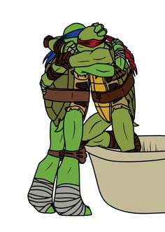 1990 movie, it was Raph who was badly hurt. When he woke, he hugged Leo. I WAS SMILING AND NODDING LIKE A FOOL WATCHING THAT SCENE MAN