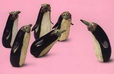 Aubergine penguins
