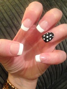 French manicure with accent nail