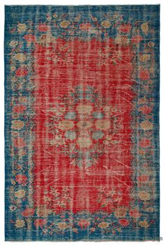 "For a contemporary look with a vintage appeal, we source rugs in excellent condition and carefully trim the piles to achieve an eye-catching ""distressed"" look. Woven with wool on cotton, this fine rug measures 6'4'' x 9'6'' (193 cm x 290 cm). In addition to being unique and hand-made, these rugs make a very special statement about bridging generations of artisanal skill and knowledge over time with a charming look that complements any modern or bohemian décor. Check out our article Get The…"