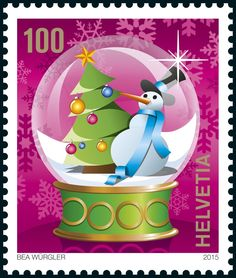 Swiss special stamp: Christmas-«Christmas tree» www.postshop.ch #Stamps #Postage…