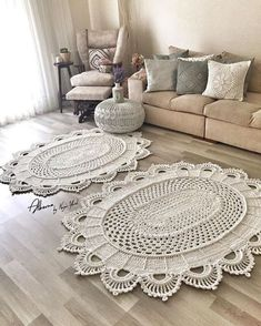 Diy Crafts - Bedspread Crochet Pattern with Hexagon Motifs Freeform Crochet, Crochet Yarn, Crochet Toys, Free Crochet, Crochet Rug Patterns, Crochet Designs, Doily Rug, Crochet Doilies, Big Area Rugs
