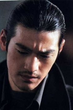 Takeshi Kaneshiro tight updo hairstyle looking very cool