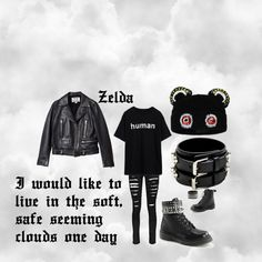"""""""Um....This outfit for me?"""" by zelda-kahtan on Polyvore featuring Acne Studios, Boohoo, Demonia and Yves Saint Laurent"""