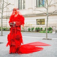 Met Gala 2017; Katy Perry in Maison Margiela Artisanal by John Galliano, on her way to the event. Source: Rony Alwin