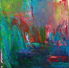 """""""My abstract paintings are about how I see and experience color in nature. The process is a religious experience for me."""" Tony Henson"""