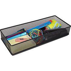 Staples® Wire Mesh Drawer Storage, Black, 2 x x Filing Cabinet Organization, 6 D, Drawer Storage, Wire Mesh, Office Supplies, Card Holder, Black, Boards, Products