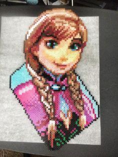 Anna Frozen perler beads by Gamer Beadz