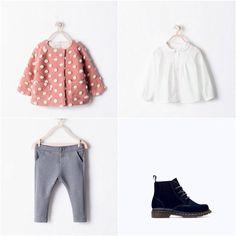 Zara Girl Polka dot Coat, Pants & Boots