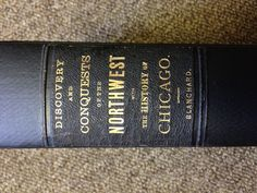Great typography on this 19th century book spine.