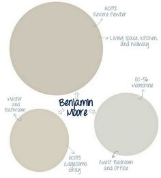 Great Benjamin Moore paint colors for neutral interiors