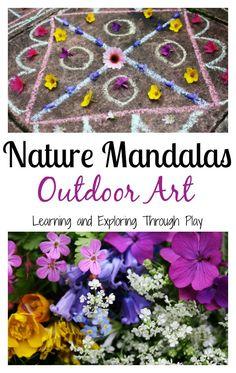 Learning and Exploring Through Play: Nature Mandalas Outdoor Art ≈≈