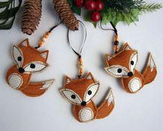 Fox adorno tela Fox Fox Woodland decoración adornos decoraciones de Fox Fox Navidad adorno textil Fox regalo hecho a mano en España