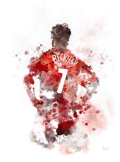 David Beckham Manchester United, Manchester United Legends, Manchester United Football, Soccer Art, Football Art, Soccer Tips, Solo Soccer, Football Shop, David Beckham Wallpaper