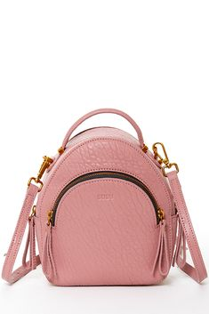 2e64cc493a7f Dusty pink leather backpack convertible designer handbags for women