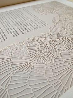 Papercut Ketubah