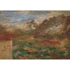 Calderara AntonioIl monte Leone1923, olio su carbone 18 x 12 cm