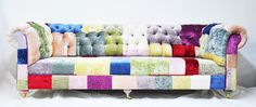 velvet chesterfield patchwork sofa by namedesignstudio on Etsy https://www.etsy.com/listing/83441606/velvet-chesterfield-patchwork-sofa